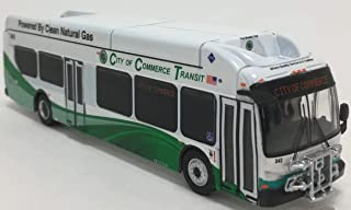 Iconic Replicas New Flyer Excelsior Bus 1/87 Scale- California City of Commerce HO Scale New! Limited Edition!