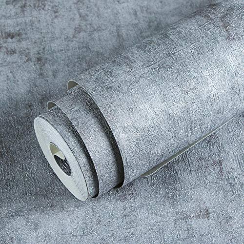 Cement grijs behang, industrieel retro behang, TV woonkamer slaapkamer achtergrondbehang, waterdicht behang.