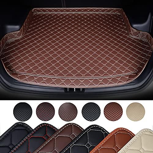 HIZH Kofferraummatte Kofferraumschutz für BMW Alle Modelle X3 X1 X4 X5 X6 Z4 E60 E84 E83 E70 E90 E53 G30 E34 F30 F10 F11 F25 F15 F34 E46 Kofferraum Schutzmatte,Braun
