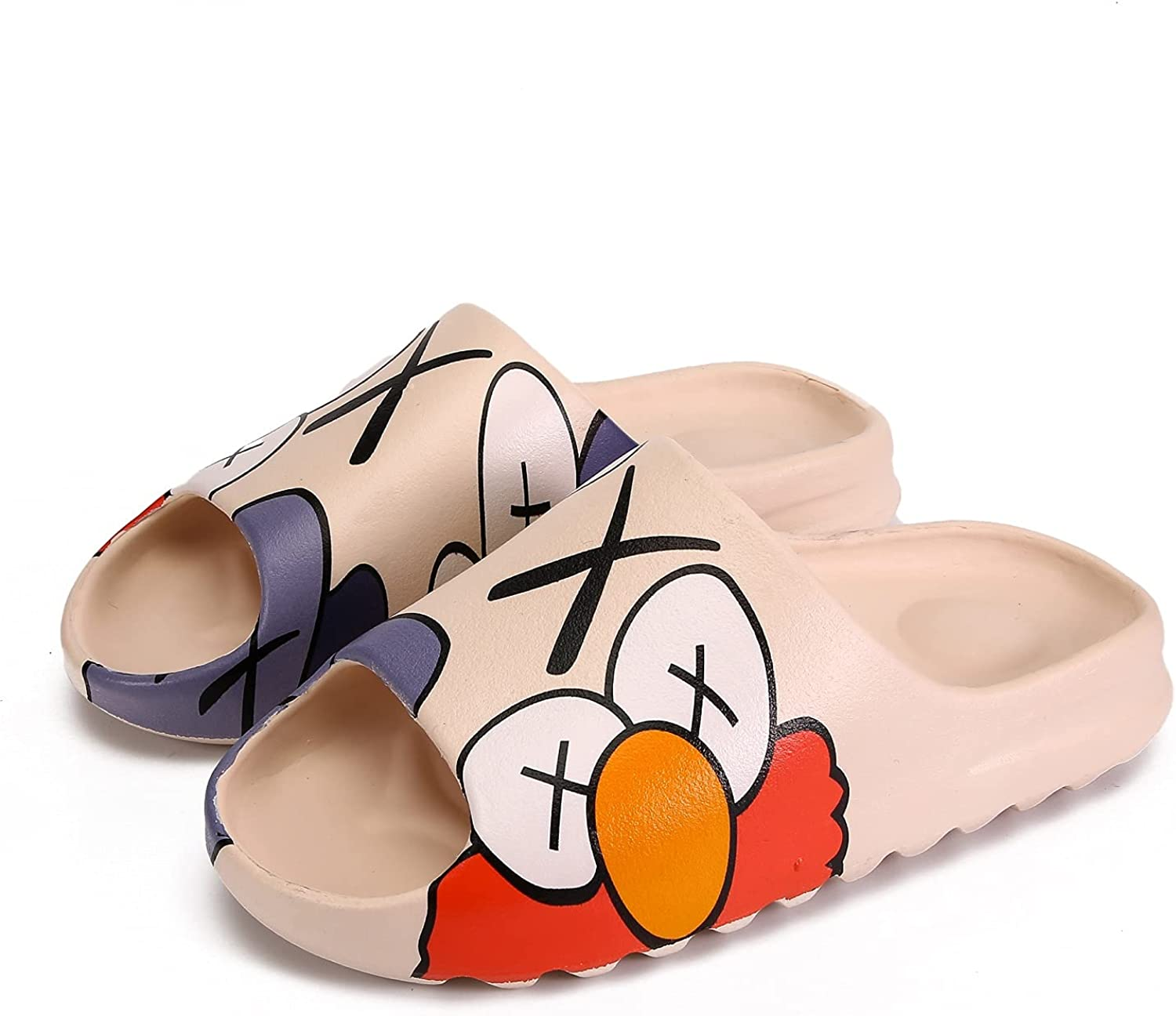 Women Men slides Quick Drying Thick-Soled Shower Shoes Slip on sandals Soft Comfortable EVA Platform Pillow Open Toe Slippers House Indoor & Outdoor