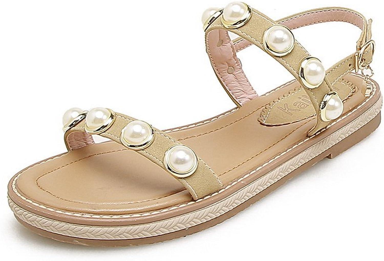 BalaMasa Womens Sandals Studded Soft-Toe Urethane Sandals ASL05014