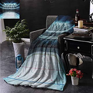 ZSUO Baby Blanket Photo of a Sports Arena Full of People Fans Audience Tournament Championship Match Reversible Soft Fabric for Couch Sofa Easy Care 50