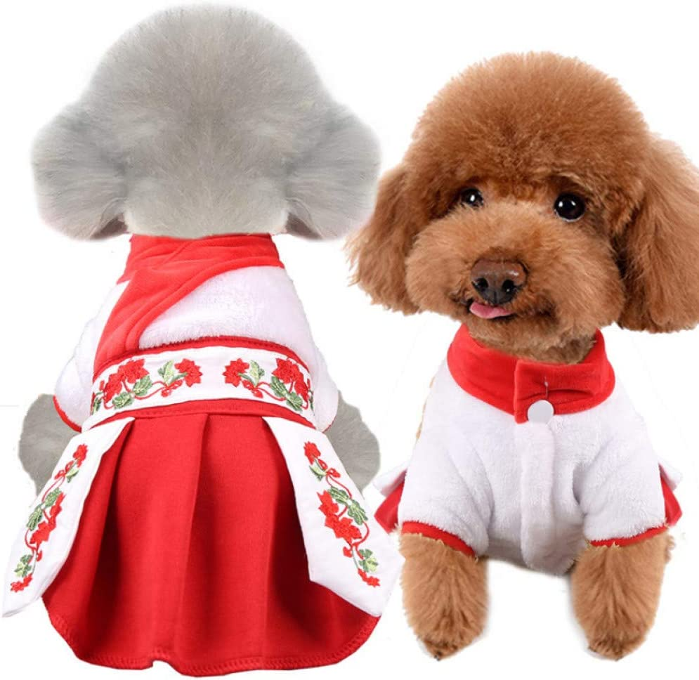 excellence RQJOPE Award Pet Clothes Dog Chinese Wint New Year