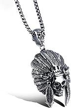 Punk Hanger Kettingen voor Mannen, Indian Skull Mo...