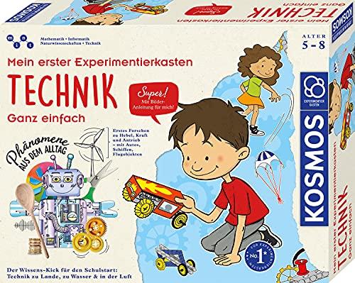 KOSMOS 602291 Mein erster Experimentierkasten Technik - ganz einfach, Spielerische Experimente für kleine Forscher, Experimentierkasten für Kinder ab 5 - 8 Jahre