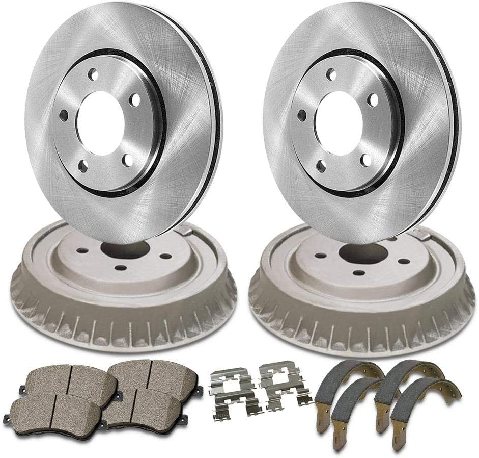 AutoDN Front and Rear Brake Rotor Pad Ceramic 6PCS Drum Shoe Albuquerque Mall Manufacturer direct delivery Com
