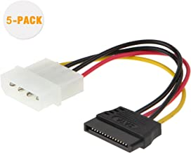 Molex to SATA, CableCreation [5-Pack] 4-Inch 4 Pin Molex to SATA Power Cable Adapter
