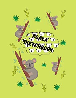 "Koala Sketchbook: Cute Animal Sketchbook, 120 Blank White Pages, Handy Larger Size (8.5""x11""), High Quality matte cover. I..."