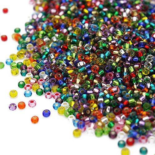 Rocaille perlas 2 mm azul claro opaco 20 G para vidrio perlenweben preciosa