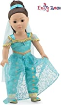Emily Rose 18 Inch Doll Clothes for American Girl Dolls  Stunning 4 Piece Jeweled Doll Princess Jasmine-Inspired Outfit, Including Shoes!   Fits 18