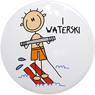 CafePress I Waterski Ornament (Round) Round Holiday Christmas Ornament