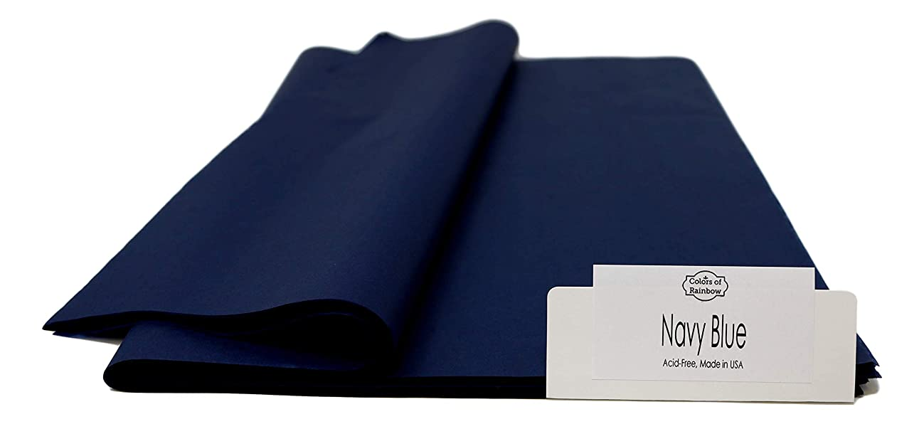"""Navy Blue 48 Sheets - Gift Wrapping Tissue Paper 20"""" X 30"""" 
