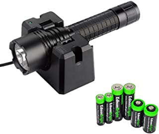 EdisonBright Fenix RC20 Rechargeable 1000 Lumen Cree XM-L2 U2 LED Flashlight with Cradle, Holster, AC Charger, ARB-L1 2600mAh Battery Battery Sampler Pack.(CR123A/AA/AAA) Bundle