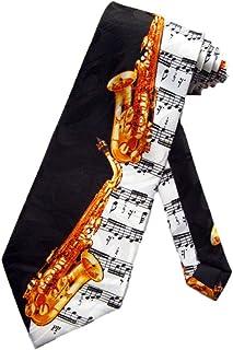 Steven Harris Mens Alto Saxophone Necktie - Black - One Size Neck Tie
