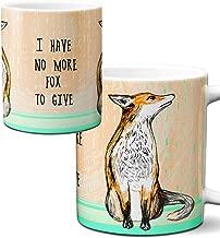 No More Fox Mug by Pithitude - One Single 11oz. White Coffee Cup