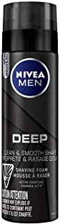 NIVEA Men DEEP Shaving Foam With Active Charcoal (200mL), Shaving Foam for All Skin Types, For Men Who Want a Comfortable,...