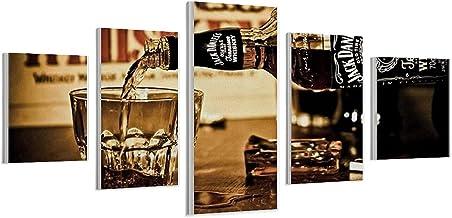"""Whiskey Drankjes Muur Art Printing Decoratie voor Klaslokaal Kantoor Woonkamer Slaapkamer College Dorm Frame-style1 10""""x1..."""