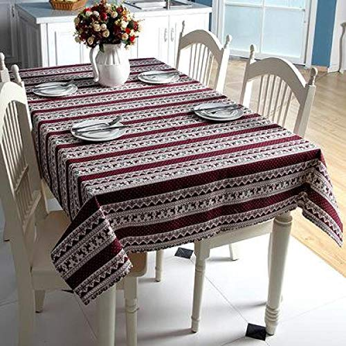 XYZG Manteles Mantel Año Navidad Mantel Rectangular Comedor Cocina Mesa Decoraciones para Fiesta en Casa Cubierta de Mesa Adornos de Navidad-Purple_60X60 CM (2pcs)