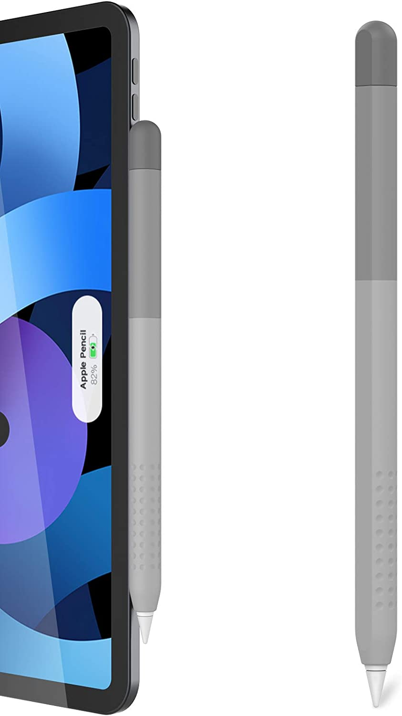 Delidigi Gradient Color iPencil Case Sleeve Silicone Cover Accessories Compatible with Apple Pencil 2nd Generation(Gradient Grey)