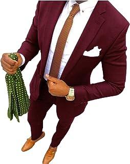 UMISS Men's 2-Piece Classic Fit Suit Office formal Jacket & Pants Set