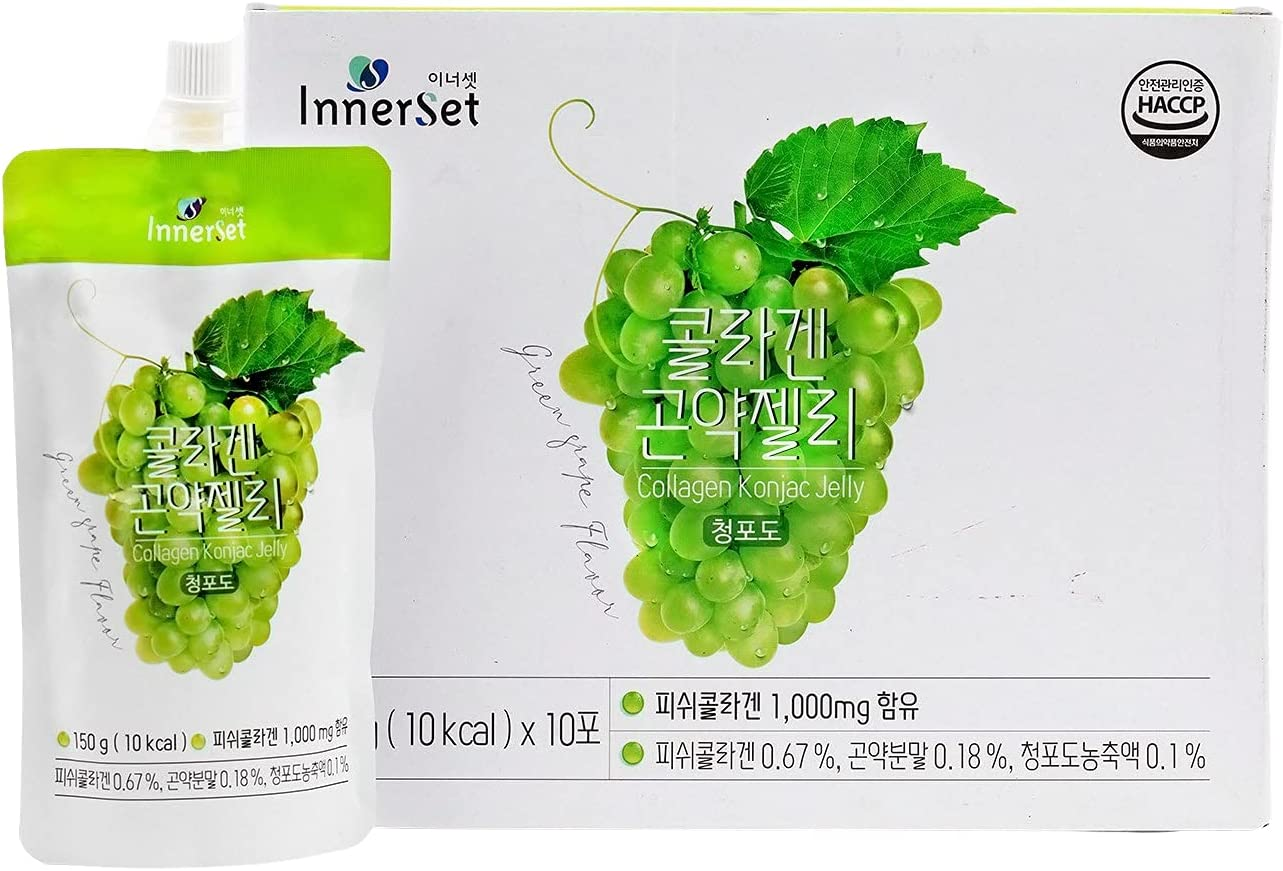 Innerset Collagen + Sale price Vitamin C Konjac Drink 150ml x10 OFFicial site Jelly pouch