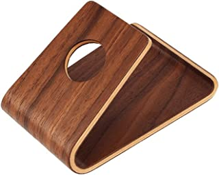 Heshaode Cell Phone Stand For Desk, Universal Wood Stand Mobile Phone Holder Stand Jackanapes Slender Cellphones Stands Po...