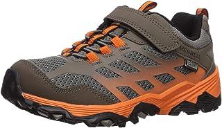 حذاء المشي Moab FST منخفض التهوية WTRPF للصبيان من Merrell لون بني/برتقالي، 05. 5 M US طفل كبير