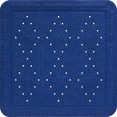 Baveno Grund Tapis de Douche Bleu 55 x 55 cm