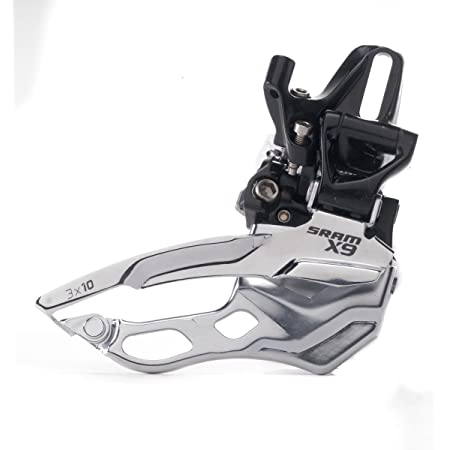 SRAM X9 Bicycle Front Derailleur with 2 x 10 High-Clamp 349 Top Pull