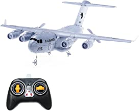Crazepony RC Airplane C-17 Transport EPP DIY Aircraft 2 Channels 2.4Ghz Remote Control 3-Axis Gyro Airplane Toy RTF