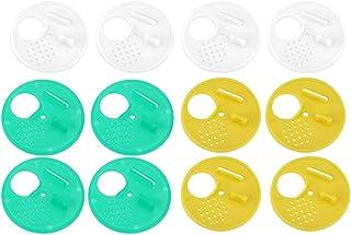 Haofy 12-Stück Biene Nest Tür Kunststoff Bee Hive Entrance Disc Runde Beehive Imkerei Werkzeuge