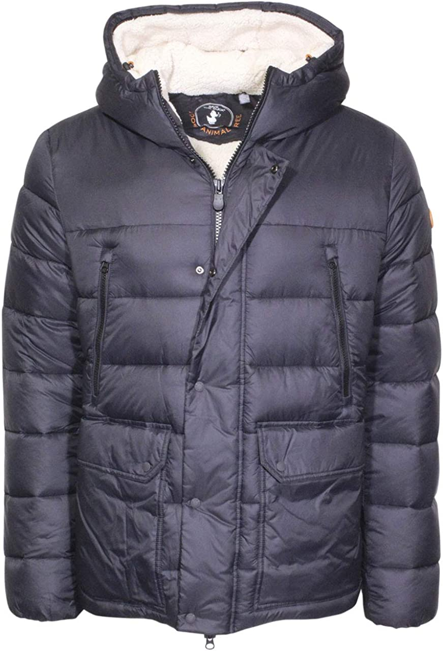 Save The Duck Hooded Giga Jacket Men's Faux-Sherpa Zip Front