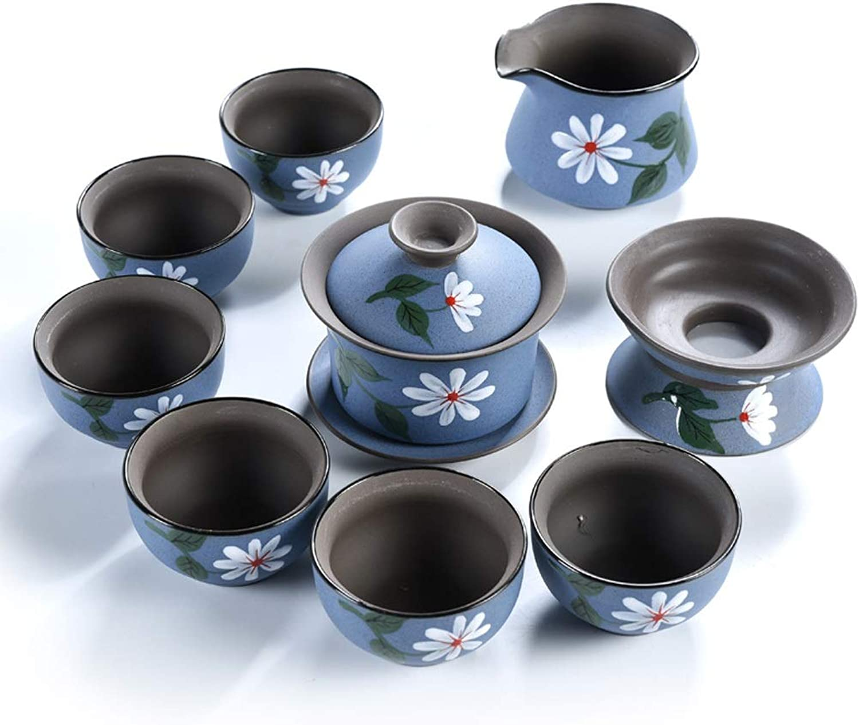 YONGYONGCHONG Ensemble de thé en céramique tasse de théière couvercle couvercle bol juste tasse de thé fuite de théière théière simple fabricant (Style   C)