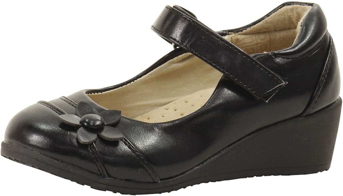 Easy Strider Girl's The Show Stopper Mary Jane School Uniform Shoes (9 - Toddler, Black)