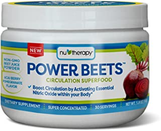 Nu-Therapy Power Beets, Super Concentrated Circulation Superfood, Dietary Supplement –..