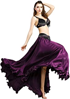 ROYAL SMEELA Belly Dance Costume for Women Belly Dancing Skirt Sexy Belly Dance Bra and Belt Set Bellydance Carnival Outfit