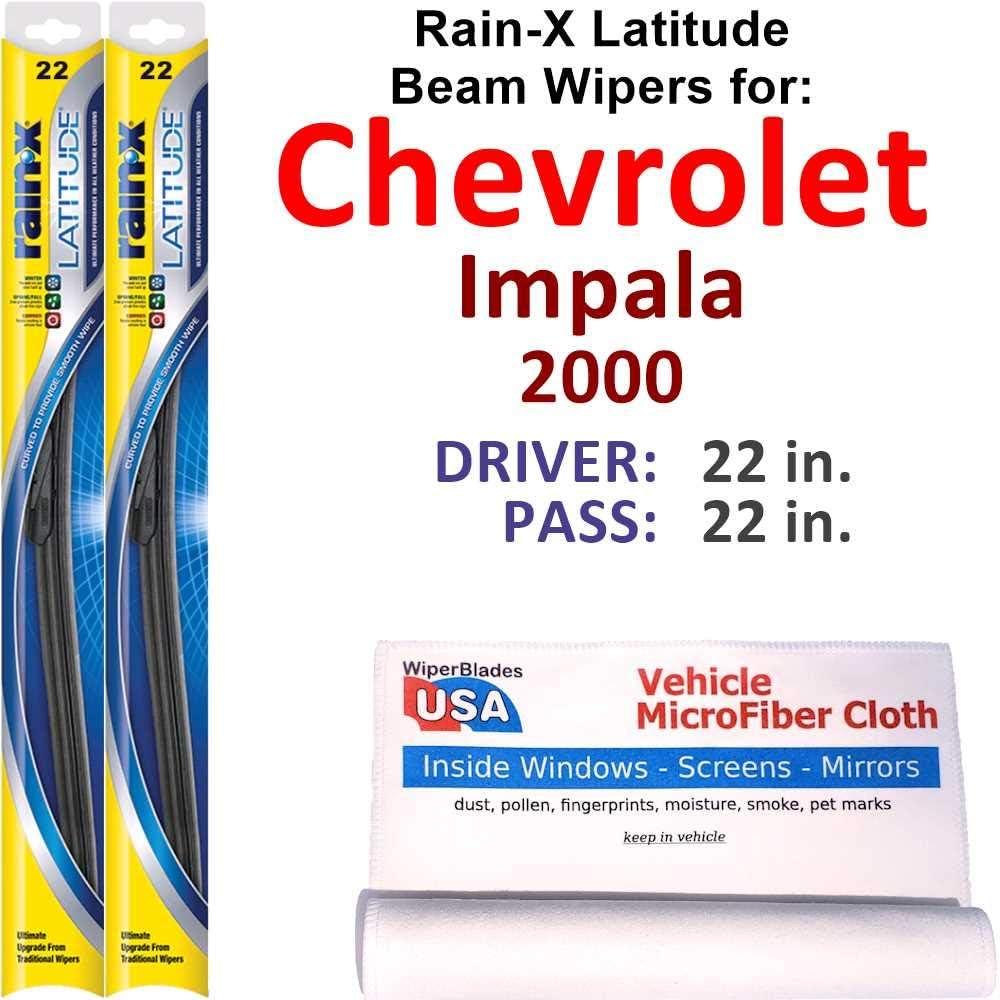 Rain-X Latitude Beam Wiper Genuine Blades Ranking TOP5 2000 Impala Chevrolet Set for