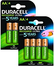 Duracell AA 2500mAh Recharge Ultra Rechargeable Batteries, Pack of 8