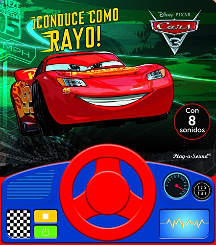 Libro con volante. Cars 3: CONDUCE COMO RAYO: 0 (LSWHEEL)