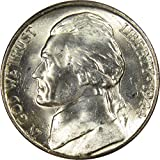 1944 S Jefferson Wartime Nickel BU Uncirculated Mint State 35% Silver 5c US Coin