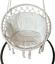 Almofadas de macramê para sofá com borlas para pendurar, rede, cadeira, balanço, almofada de assento para ioga