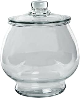 Anchor Hocking 1-Gallon Glass Cookie Jar with Cover, Large (Pack of 2) - 4302-02-09