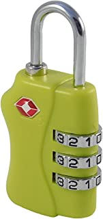 RB4K TSA Lock - مجموعة من 3 أرقام - لحقيبة الظهر ، الأمتعة ، حمل أغراض السفر الأخرى - ملون ، دائم (أخضر)