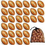 40 Packs 1.4 inch Mini Football Sports Stress...