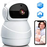 GRC 1080P Wireless Security Camera with Two Way Audio, Motion Detection and Cloud Storage Support for Home/Office/Shop
