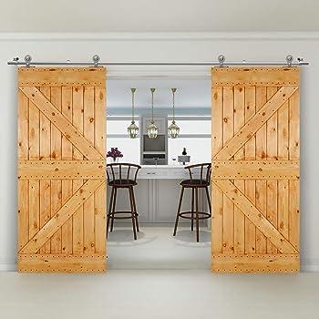 304CM/10FT Puerta de granero corredera estilo rústico puerta de ...