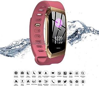 SHOUHUAN Pulsera Actividad Inteligente Impermeable IP68 Monitor Ritmo Cardíaco y Sueño 7 Modos de Deporte Reloj Inteligente para Mujer Hombre Compatible con iOS y Android E