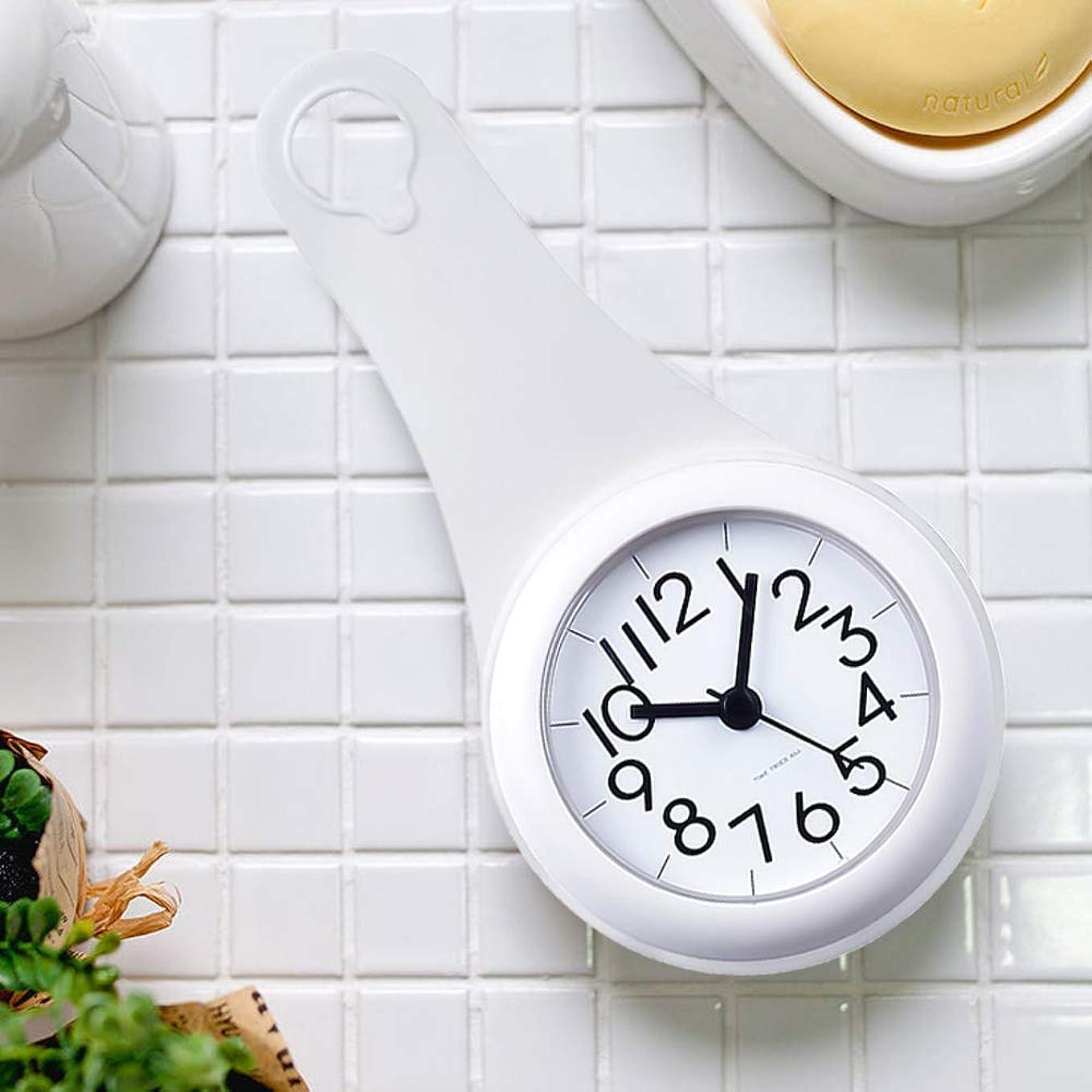 ミンチ放射性スクラップ【Miyatob】バスルーム時計 防水クロック 掛け時計 ウォールクロック 吸盤付き 防水 静音 浴室 キッチン お風呂 家庭用 おしゃれ シンプル インテリア 北欧 デザイン シャワー