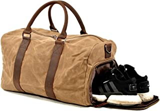 High Capacity Travel Bag Gym Bag with Shoes Compartment and Dry Wet Separated Waterproof & Durable Duffle Bag Carry On Satchel Unisex
