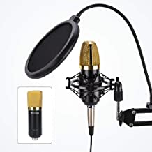 Blackmore Pro Audio XLR Condenser Microphone Kit with Pop Filter & Boom Arm for Streaming, Podcasts, Gaming (BMP-24)